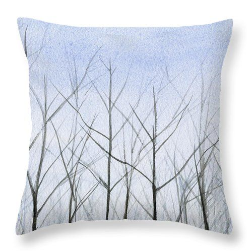 winter trees decorative throw pillows by beverly brown