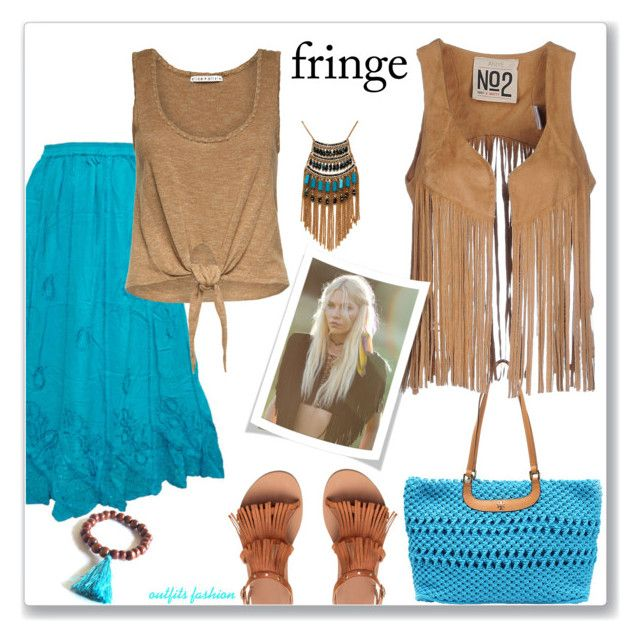 Fringe! by outfitsfashion4 on Polyvore featuring moda, Aniye N*2, Alice + Olivia, Tory Burch, Leslie Danzis and Free People