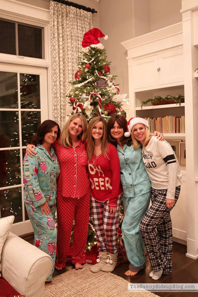 Winter Fashion and a Pajama Party Christmas party