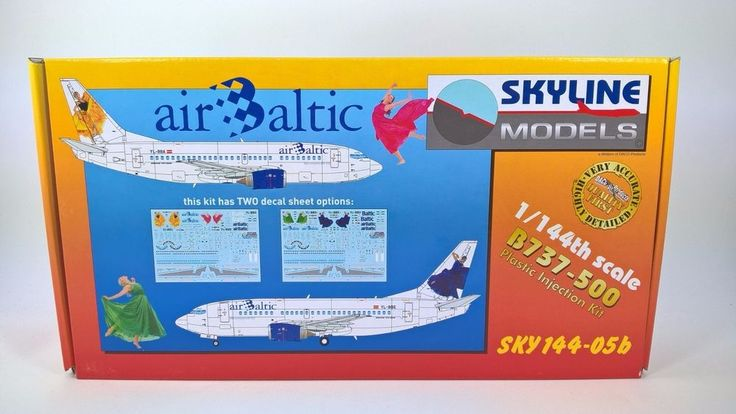 """Plastic injection model kit of civil aircraft Boeing 737 – 500. Designed & tooled by computer in 3D, after measuring each and every part on real Boeing 737-500. Contains one unassembled plastic model kit with Western Pacific """"The Simpsons"""" decal sheet. 