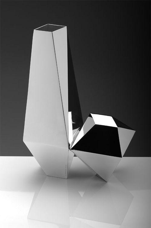 Geometric Mirror Vases