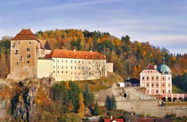 Bečov nad Teplou. South of Karlovy Vary. Recently discovered 13th century gold casket hidden under the floor of the chateau chapel.
