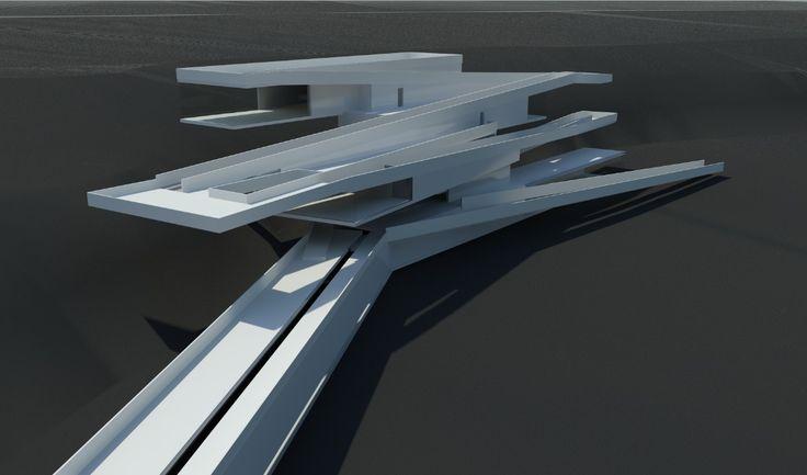 Civic Centred by Agata Murasko  Revit modelling/Revit rendering