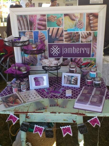 Jamberry Vendor Booth | Talking and visiting with customers was a lot of fun, and I was happy ...