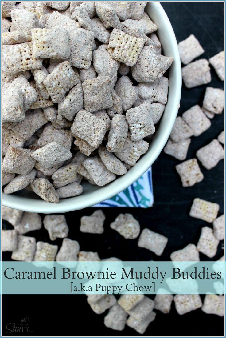 Caramel Brownie Muddy Buddies   a.k.a Puppy Chow