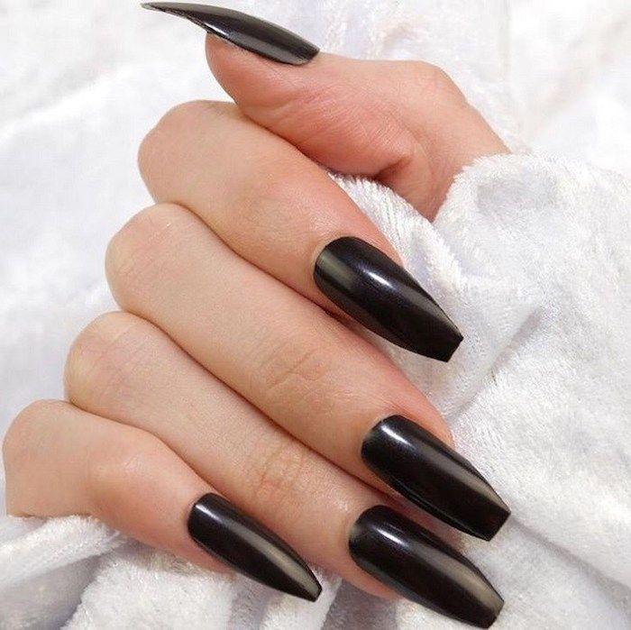 2019 Coffin Nail Trends Nail Colors 2019 Summer Nail Colors 2019 Nail Designs Nail Designs Picture Coffin Nails Long Coffin Shape Nails Black Acrylic Nails