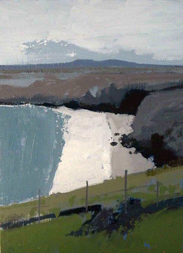 Mark Godwin. Hidden Cove. Oil on board. 30 x 20 cms.