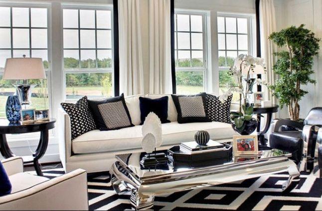 Idee Deco Salon Noir Et Blanc Maison Moderne Design Id Es