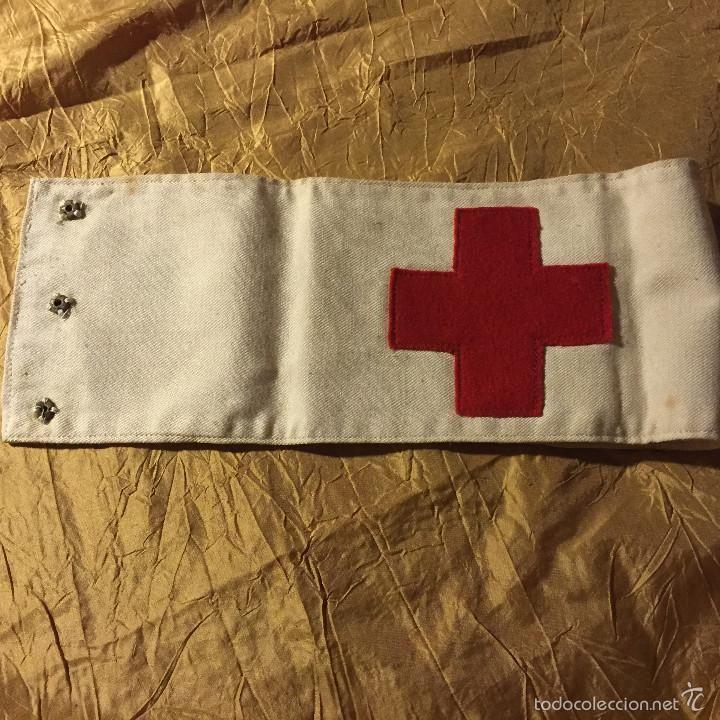 Vintage: Equipo enfermera Cruz Roja 1950 Toca, cuello, guantes y brazalete - Foto 6 - 56675282