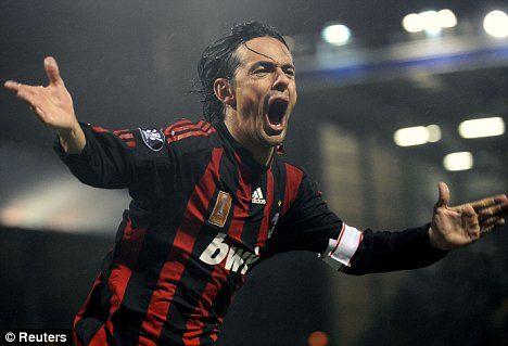 AC Milan's Filippo Inzaghi