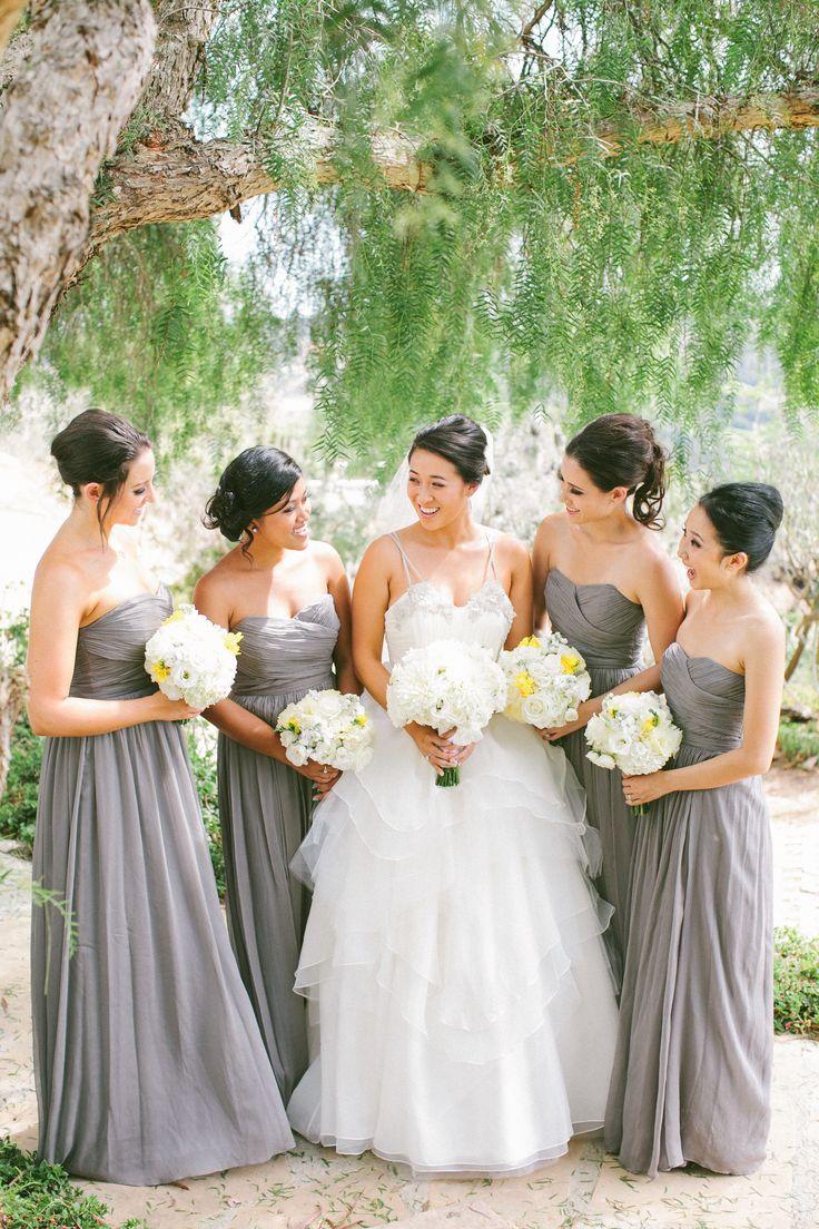 Christmas wedding dress jcrew - Malibu Wedding At Rancho Del Cielo J Crew Bridesmaidgray Bridesmaid Dressesgray