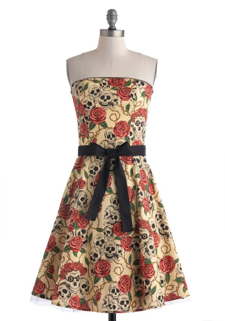 VIP Thicket Dress. When your concert-promoter pal scores you special passes to the metal show of the season, you know youll need an outfit that rocks as much as your beloved band. #cream #modcloth