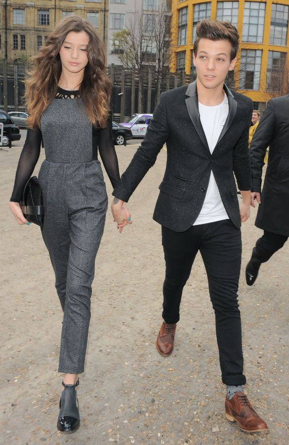 Ahh her hair is perfectttt  Eleanor Calder and Louis Tomlinson from One Direction