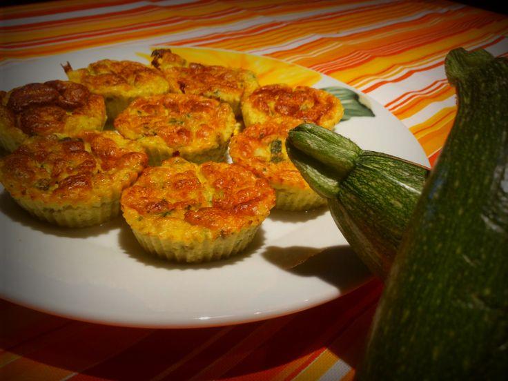 Mini soufflé di zucchine