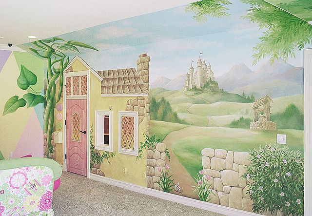 17 best images about murals on pinterest storybook for Castle wall mural