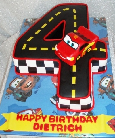 Lightening McQueen By julie3535 on CakeCentral.com