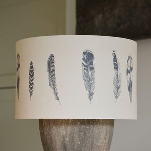Handmade Feather Lampshade - The perfect living room accessory as winter draws in. Craft is at the heart of the artisan trend,  as it brings together rustic materials such as wood, rope and clay.