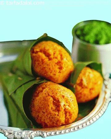 Damni Dhokla ( Non- Fried Snacks ) | Dhoklas recipes | Steamed Snacks | Snacks | Tarladalal.com