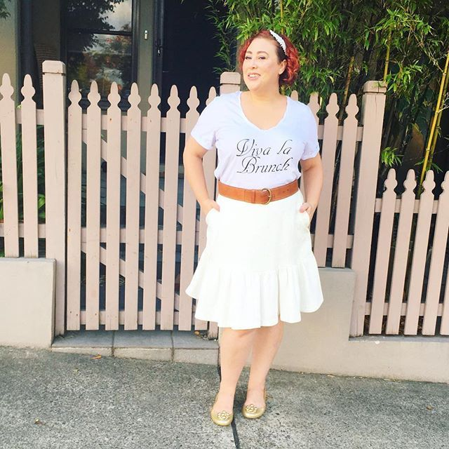 What I wore for Autumn Style File - Ruby & Lilli T shirt, Trenery belt, Stuart Weitzmann shoes, Country Road skirt