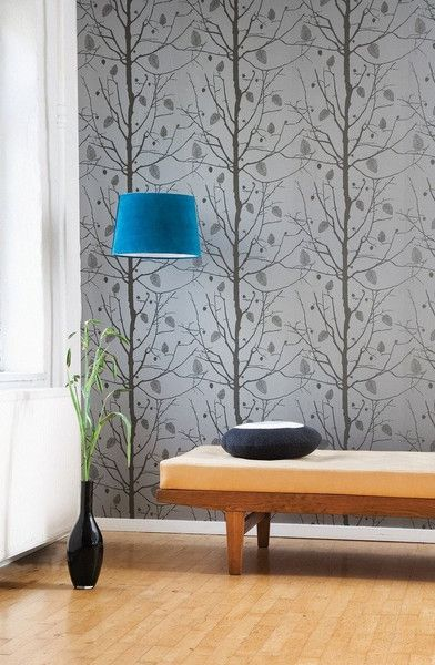 I really like this, and I don't norm like wallpaper! family tree wallpaper -silver