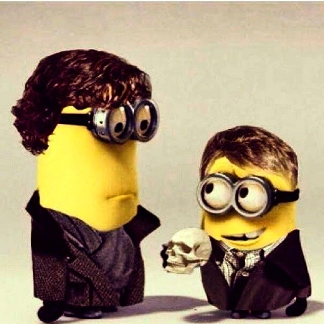 JOHNLOCK IN MINION FORM! #Minions #Sherlock #JohnWatson #Awesomeness #Ship #BBC