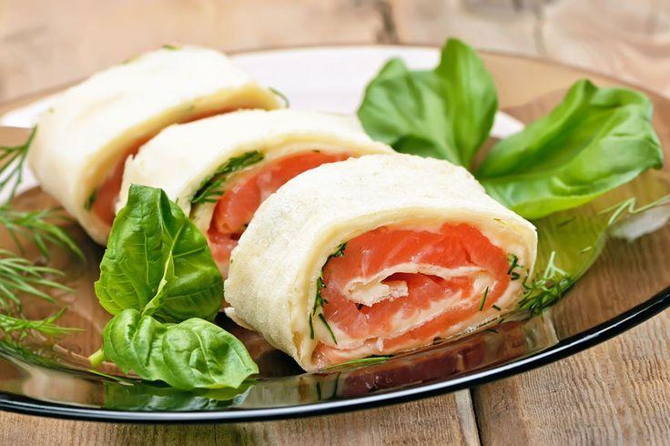 Recette healthy : roulé au saumon