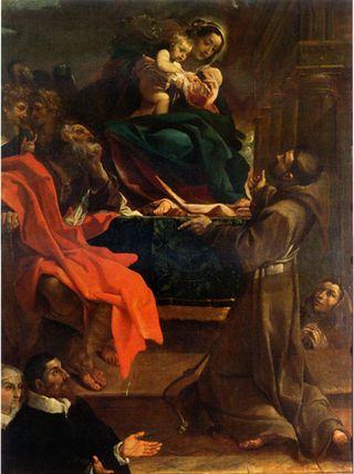 Ludovico Caracci madonna con bambino e santi-1591-  chiamata la Caraccina da Guercino che lo ha ispirato nei suoi studi giovanili a Bologna nel 1609