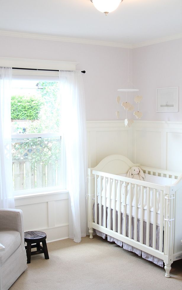 cute, peaceful... i like the molding up the side of the wall, I think