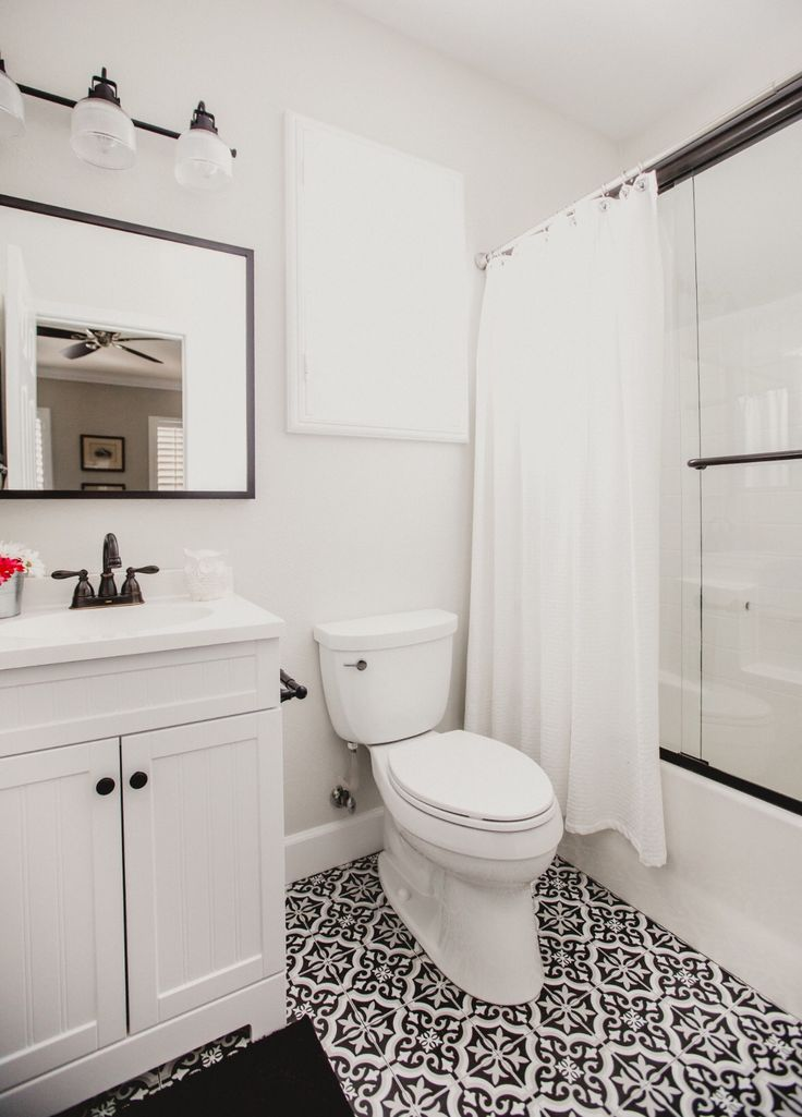 Bathroom Black And White Bathroom Classic Bathroom Merola Tile Lowes Vanity Bathroom Design