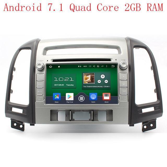 HD 1024*600 Octa Core 2GB RAM Android 6.0.1 Car DVD Player Radio GPS Navi Stereo Fit HYUNDAI SANTA FE 2006 2007 2008-2012