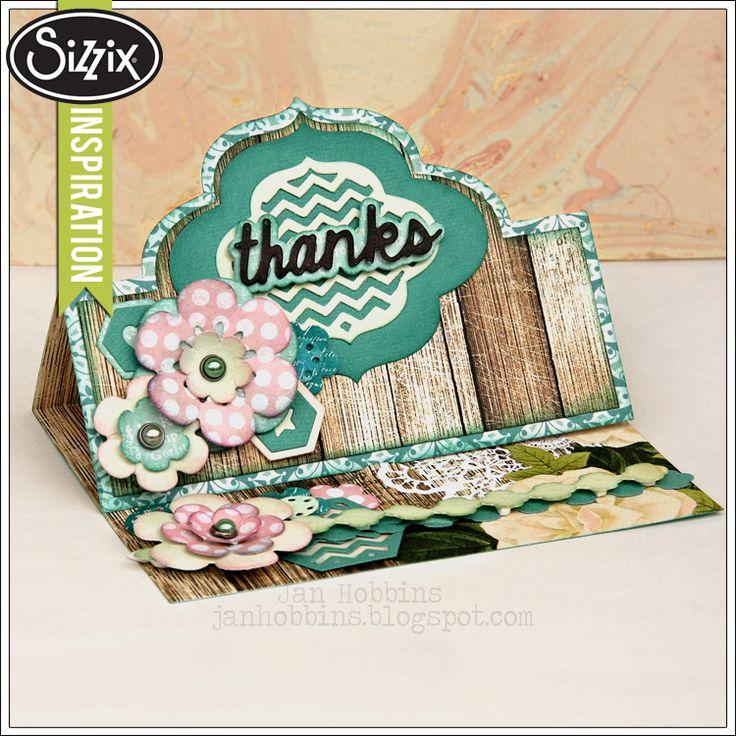 Card Making Ideas Sizzix Part - 36: Sizzix Die Cutting Inspiration   Thanks Card By Jan Hobbins