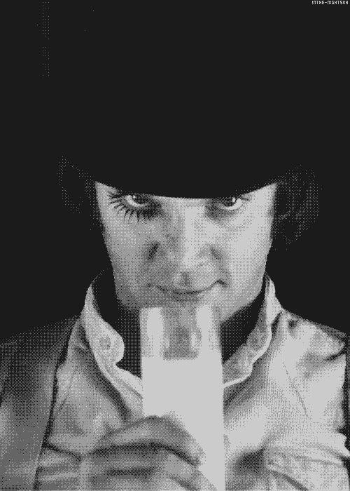 Malcolm McDowell —- Alexander DeLarge