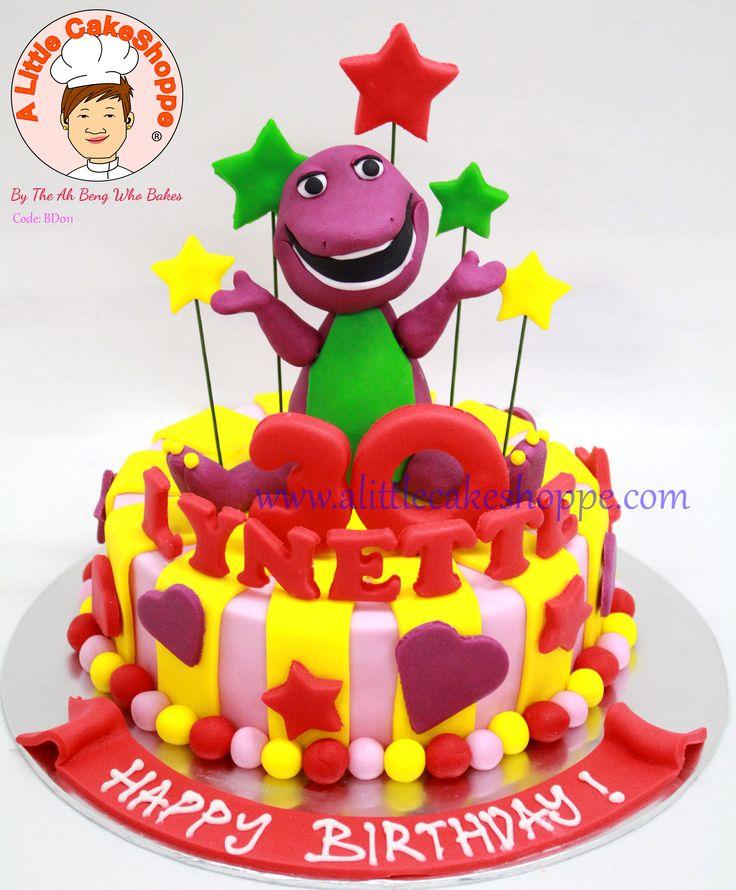 Code: BD011  For enquiries, please email to info@alittlecakeshoppe.com  www.alittlecakeshoppe.com Instagram - instagram.com/alittlecakeshoppe Pinterest - pinterest.com/ALCSingapore  #Barney #CustomCakes #ALittleCakeShoppe #Singapore #Customised #Birthday #Cakes