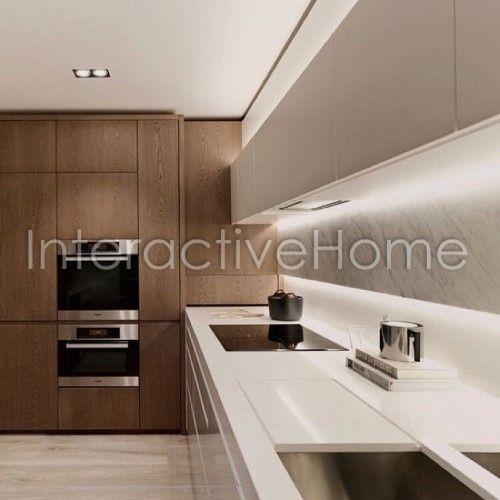 Автоматическая подсветка мебели кухни