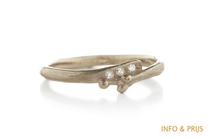 Organic engagement ring