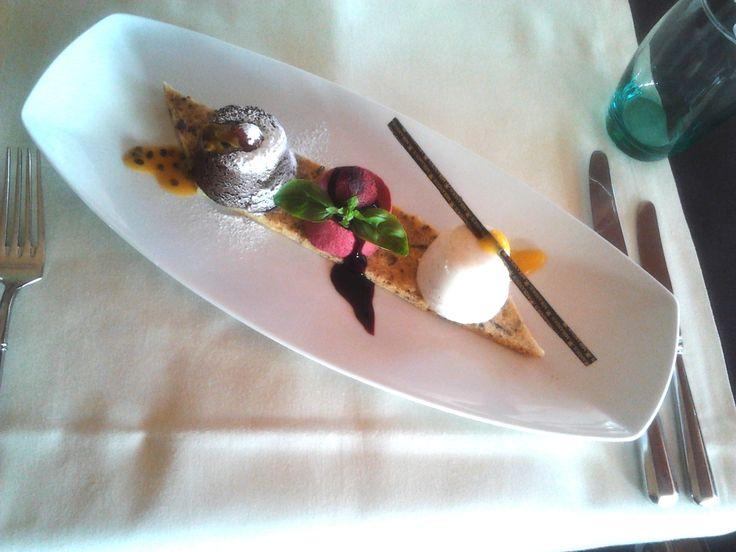 Yummy dessert at Mirandus Restaurant, Lagos, Algarve, Portugal