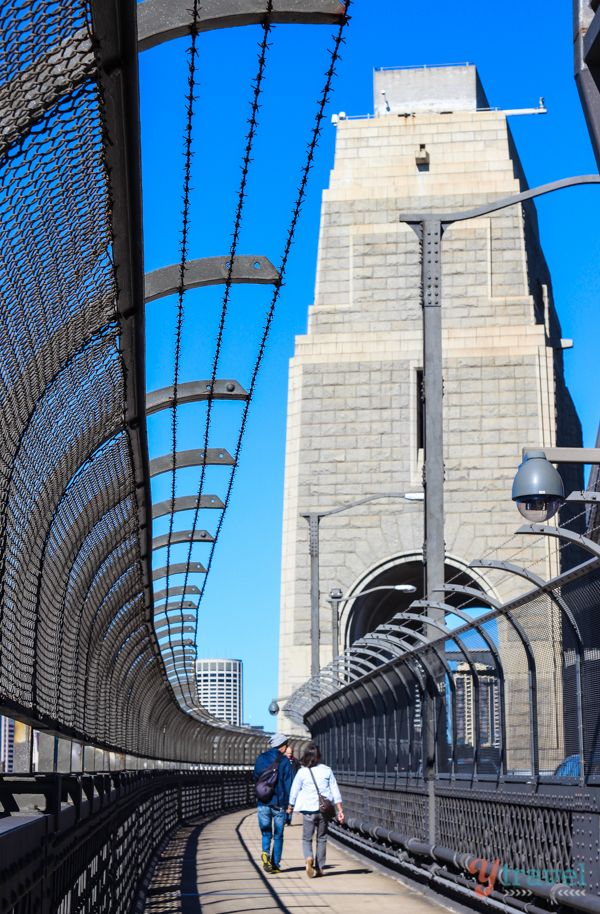 Walking across the Sydney Harbour Bridge