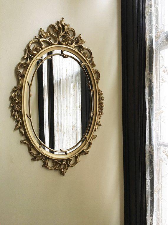 Bedroom Mirror Gold Vintage Mirror Gold Mirror Wall Mirror Decorative Mirror Syroco Mirror Bedroom Mirror Antique Mirror Oval Mirror Ornate Mirror Vintage Fra Gold Mirror Wall Vintage Gold Mirror Vintage