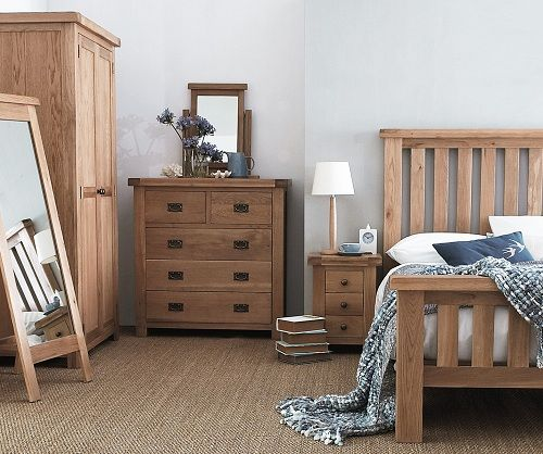 Our stunning Grantham Oak Collection is an immensely popular, vast collection of Living, Dining and Bedroom furniture that features a distinct rustic appeal. Made from premium quality solid oak with real oak veneers, a classic, timeless appearance is complimented beautifully by a matt lacquer that accentuates the natural characteristics of the oak. One of the standout features of this gorgeous oak range is the chunky oak top which oozes class and exudes quality. Shrewd metal handles simply…