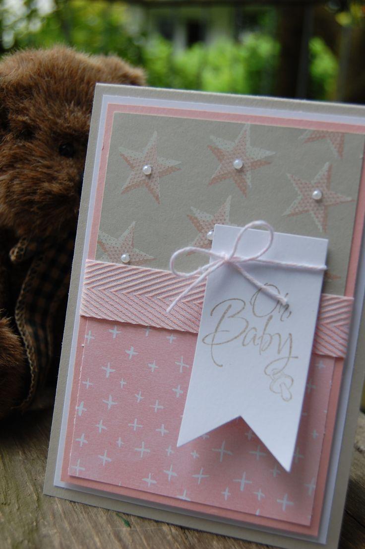 Babykarte, Zur Geburt, Bastelabend bei Petra