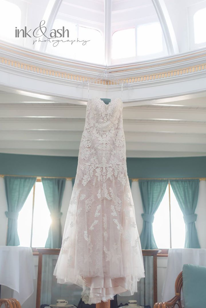 The wedding gown. Photo by Ink and Ash Photography