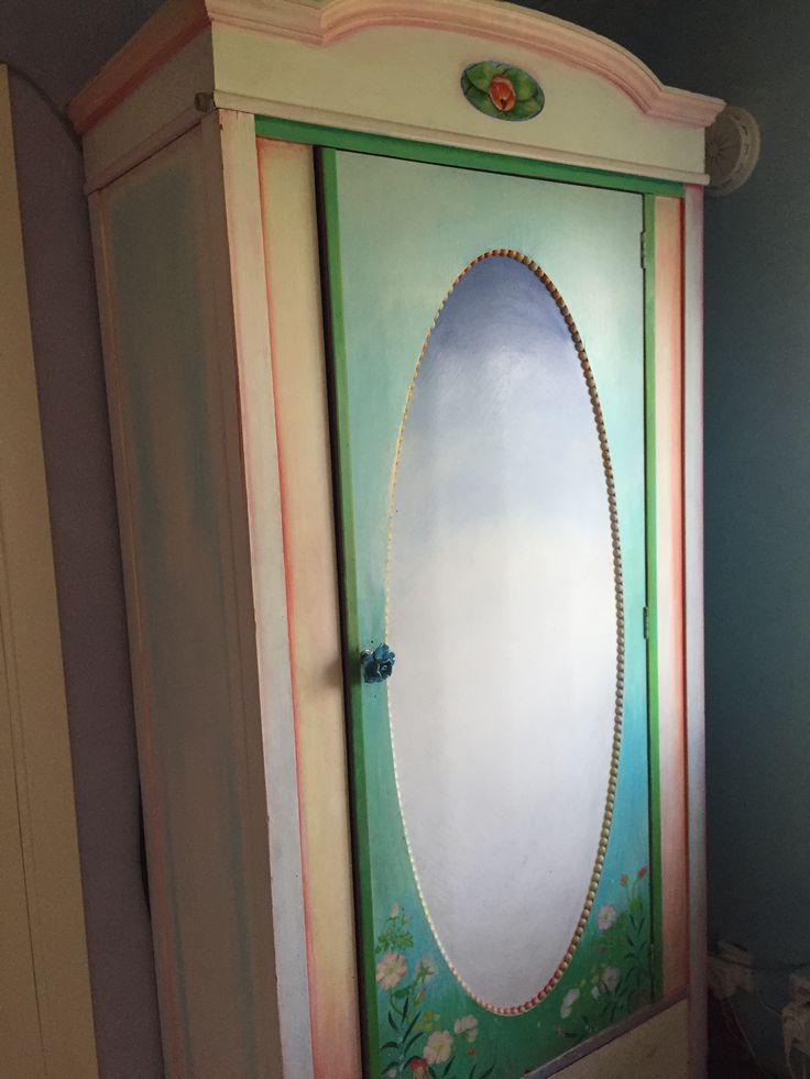 Beautiful handpainted cupboard in my creative room at Venusgarden