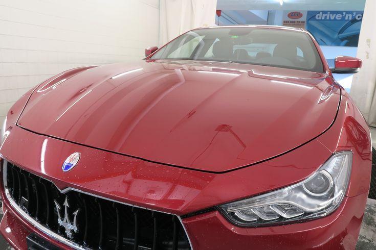 Maserati gewaschen und am trocknen! www.avp-autopflege.ch