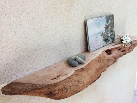 Floating Shelf Wood Sheoak Live Edge Shelf Natural Narrow
