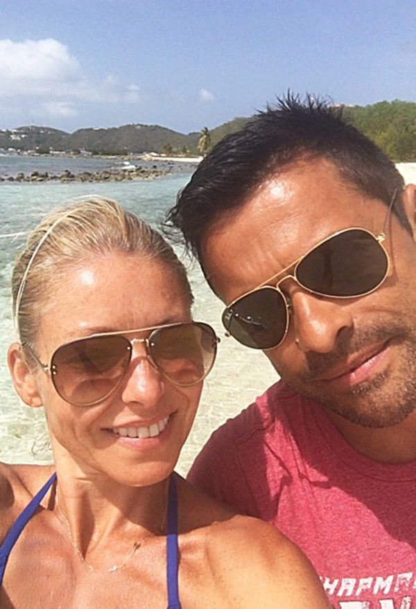 Kelly Ripa, Mark Consuelos Smile at the Beach Amid 'Live' Drama: Exclusive Pic - Us Weekly
