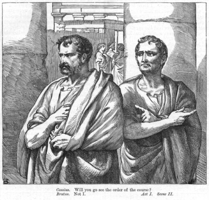 julius caesar a comparison of brutus and Brutus admits that even though he is opposed to caesar being a king, he still respects him, while cassius really envies caesar and thinks that he himself needs more respect brutus also seems to be more peaceful, while cassius is the let's go kill him type.