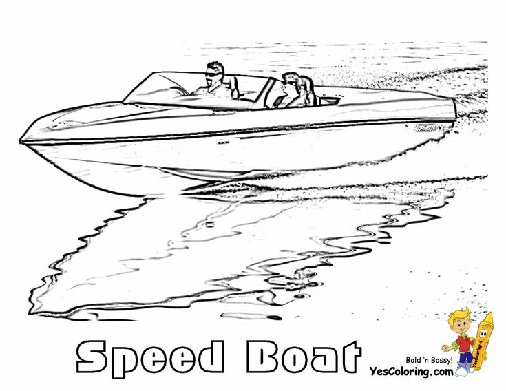 Free Printable Boat Coloring Pages For Kids | Pinterest