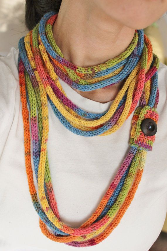 French Knitting Scarf : Best images about french knitting on pinterest wire