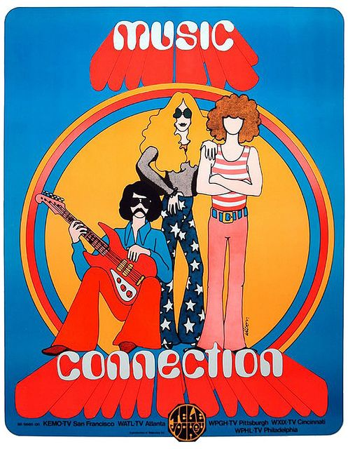 Music Connection - Television Show / Psychedelic / Graphic Design / 60's / Illustration
