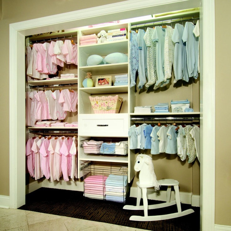 Most organized baby closet i've ever seen. For when I have twins one day!